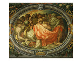 Astronomy, Medallion, Chambre Des Arts (Room of the Arts) Giclée-tryk af Francesco Primaticcio