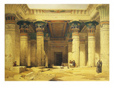 Great Gate of Temple of Isis, Island of Philae in Upper Egypt, Lithograph, 1838-9 Premium Giclee Print by David Roberts