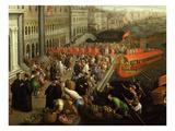 Riva Dei Schiavoni, Venice, Italy (Detail) Giclee Print by Leandro Da Ponte Bassano