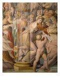 Fresco, 1566-71 (Detail) from the Sala Di Bacio Giclee Print by Jacopo Zanguidi Bertoja