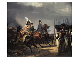 The Battle of Iena, 14 October 1806 - French Army Commanded by Napoleon Bonaparte, 1769-1821 Giclée-Druck von Horace Vernet