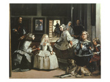 Las Meninas (Family of King Philip IV of Spain), 1656 (Detail) Giclée-tryk af Diego Velázquez