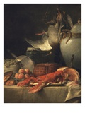 Still Life with Lobster (Detail) Giclée-Druck von Anne Vallayer-coster