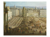 Fair in Market Square in Naples Giclee Print by Domenico Garguilio