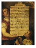 Tenor and Descant Parts, from Magnificat for 4 Voices Composed by Cornelius Verdonck Giclee Print by Martin de Vos