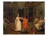 Ball Inside a House, 18th Century, Venice, Detail Giclée-tryk af Italian School