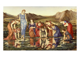 The Mirror of Venus Premium Giclee Print by Edward Burne-Jones