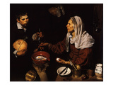 Old Woman Frying Eggs, 1618 Giclee Print by Diego Velázquez