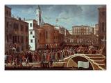 Festival of 2 February, Santa Maria Formosa, Venice, Italy Giclee Print by Gabriele Bella