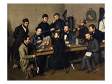 Political Meeting in Trier in 1848, the Year Karl Marx and Friedrich Engels Gicl&#233;e-Druck von Johann Velten