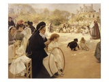 Luxembourg Gardens, Paris Giclee Print by Albert Edelfelt