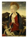 Virgin Mary Adoring Christ Child Giclée-tryk af Alesso Baldovinetti