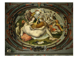 Muses, Medallion, Chambre Des Arts (Room of the Arts) Giclée-tryk af Francesco Primaticcio