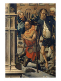 Beggars Outside the Cathedral, from Charlemagne Offering the Silver Plate and Chalice Giclee Print by Bernard van Orley