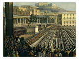 Pope Pius IX, 1792-1878, Blessing Bourbon Troops Gathered on the Esplanade of the Royal Palace Giclee Print by Achille Vespa