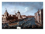Women's Regatta on Grand Canal, Venice, Italy Giclee Print by Gabriele Bella