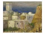 Algerian Village, from La Mosquée, Ou Fête Arabe, the Mosque or Arab Festival, 1881, Detail Giclée-tryk af Pierre-Auguste Renoir