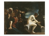 Susanna and the Elders, 1617 Lámina giclée por Guercino (Giovanni Francesco Barbieri)
