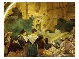 Theatre in Orange, France, Fresco, 1905 in Restaurant Le Train Bleu (Blue Train) Giclee Print by Albert Maignan