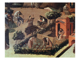 Monks Working in the Garden, from the Thebaid, Describing Communal Life at the Monastery Giclee Print by Fra Angelico