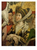 Empress of Alexandria (Wife of Maximinus), from Altarpiece of Saint Catherine, 1480 (Panel Detail) Giclee Print by Friedrich Pacher