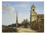 The Trinita Dei Monti and the French Academy Rome Italy Giclee Print by Gian Battista Bassi