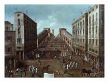 Bull Race across Rialto Bridge, Venice, Italy Giclee Print by Gabriele Bella