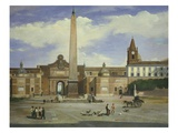 The Piazza Del Popolo Rome Italy Giclee Print by Giovanni Capranesi
