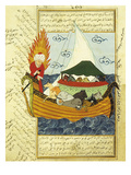 Noah's Ark, 16th Century, Ottoman Miniature of the Anatolian School Giclee Print