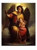 The Guardian Angel, 1854 Giclee Print by Antonio Zona