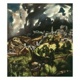 View of Toledo, Spain, 1595-1610 Giclee Print by  El Greco