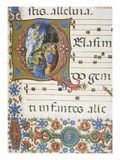 Christ Appearing to the Apostles, Letter or Initial Q, Miniature, from Book of Religious Music Giclee Print by Liberale Da Verona