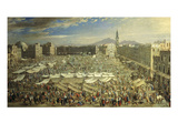 Market in Naples, Italy, 1686 Giclee Print by Angelo Maria Costa