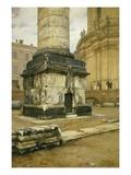 Trajan Column Rome Giclee Print by Luigi Bazzani