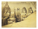 Temple of Abu Simbel, 13th Century Bc, Façade, Egypt, Lithograph, 1838-9 Giclee Print by David Roberts
