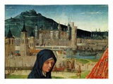 Louvre and Abbey of Saint Germain Des Près, from Pietà of Saint Germain Des Près, C. 1500 Giclee Print by Master of Saint Germain des Près