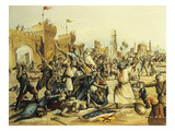 Battle of Mansurah, 1250, Seventh Crusade, 1249 Expedition of Louis Ix of France in Egypt, Painting Giclee Print