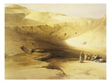 Entrance to the Valley of the Kings, Biban El Muluk, Egypt, Lithograph, 1838-9 Giclee Print by David Roberts