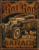 Rat Rod Garage Distressed Retro Vintage Tin Sign Tin Sign