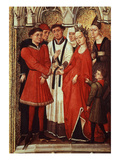 Wedding, from Redemption Triptych, C. 1455-59 (Detail), also Attributed to Vrancke Van Der Stockt Giclée-Druck von Rogier van der Weyden
