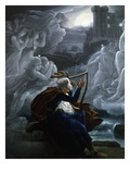 Ossian's Lament, from the Tale of Ossian (Legendary Gaelic Poet, 3rd Century Ad) Giclee Print by Karoly Kisfaludy