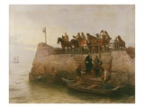 A Lost Cause, Flight of King James II after the Battle of the Boyne, 1888 Giclee Print by Andrew Carrick Gow