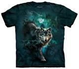 Night Wolves Collage T-skjorter