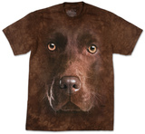Chocolate Lab Face Camisetas