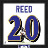 Super Bowl XLVII Champions - Ravens, Ed Reed representation of player&#39;s jersey Framed Memorabilia