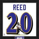 Super Bowl XLVII Champions - Ravens, Ed Reed representation of player's jersey Framed Memorabilia