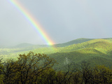 A Large Rainbow over the Shenandoah Valley in Late Afternoon Photographic Print by Darlyne A. Murawski