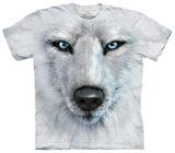 Primo piano di un lupo bianco T-Shirts
