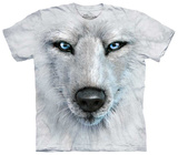 White Wolf Face Shirts