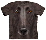 Black Greyhound Face T-Shirt